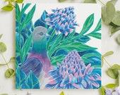 Carte postale pigeon
