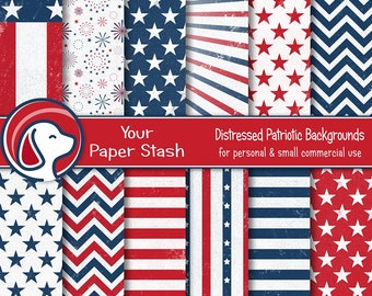 75fde21a3e7c Patriotic 4th of July Digital Papers