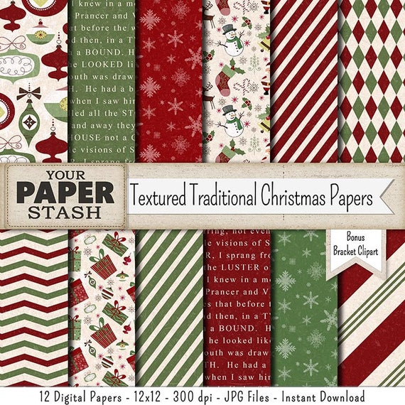 christmas digital paper textured holiday backgrounds with
