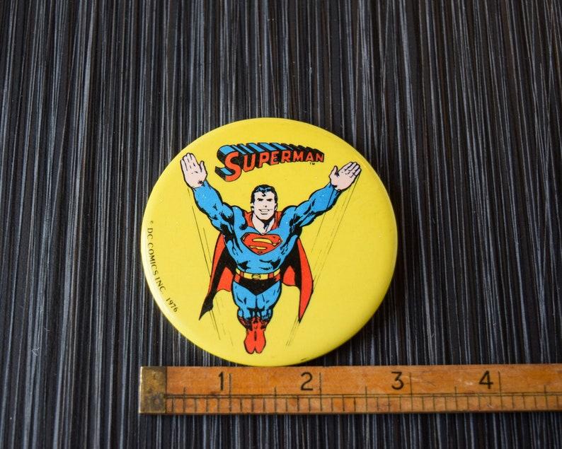 1976 Vintage Superman 3 in Pinback Button