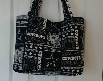 ca5b44958 New Dallas Cowboys fabric quilted tote bag