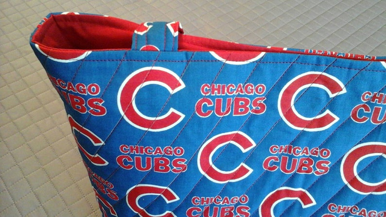 Quilted Chicago Cubs tote bag