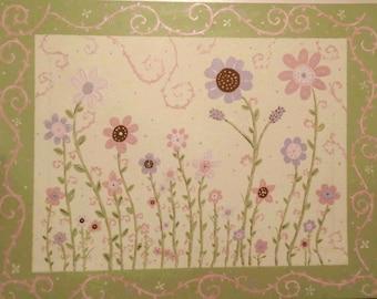 Whimsical flower garden
