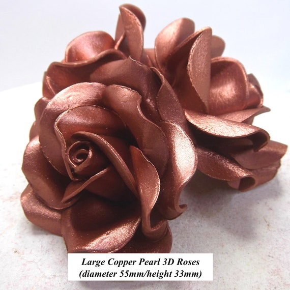 1,3,6 or 12 Large Baby Pink 3D Sugar Roses wedding cake decoration 55mm NONWIRED