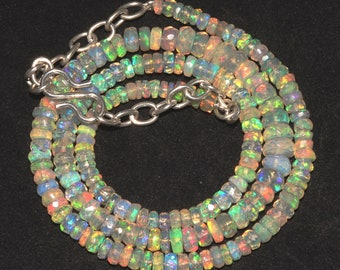 Beautiful Natural Ethiopian welo Fire opal Beads Necklace -F31390