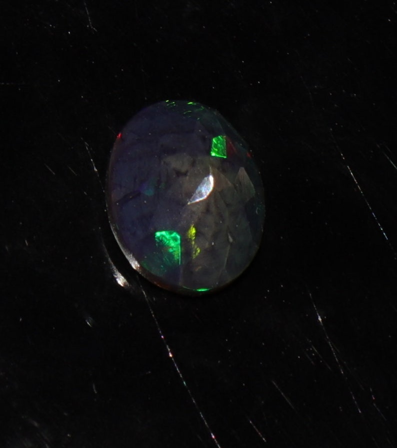 Beautiful 100/% Natural Ethiopian opal Black Faceted cabochon for Jewelry Use Opal   Ethiopian Black Opal  October Birthstone oval Opal.