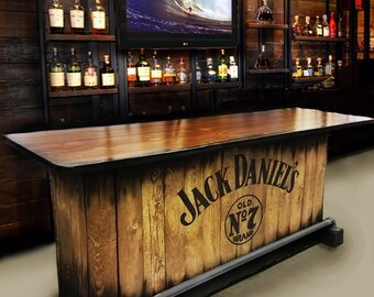 SOLD OUT Home Bar Custom Hand Built Rustic Whiskey, Pub, Man Cave, Barn  U Ship. Built To Order. Customized Requests. Personalized Logos
