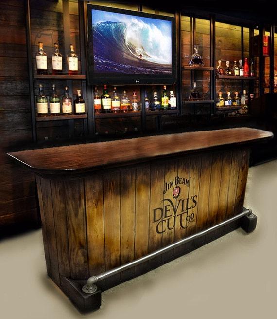 home bar custom hand built rustic whiskey pub man cave barn   Etsy