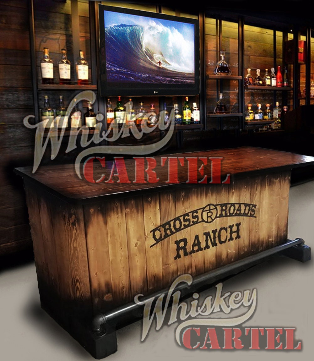 Sold Out Home Bar Custom Hand Built Rustic Whiskey Pub Man Cave