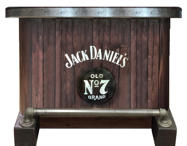 SOLD Jack Daniels home bar custom hand built rustic whiskey, pub ...