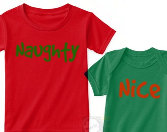 Naughty Nice Christmas Shirts, Brother Sister Holiday Outfits, Brother Sister Christmas Shirts, Sibling Christmas Shirts, Twin Christmas Tee