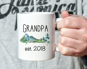 Grandpa est 2018 Grandpa Established 2018 Coffee Mug Gifts for new grandpa Pregnancy Announcement