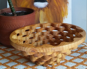 wooden fruit bowl / free shipping