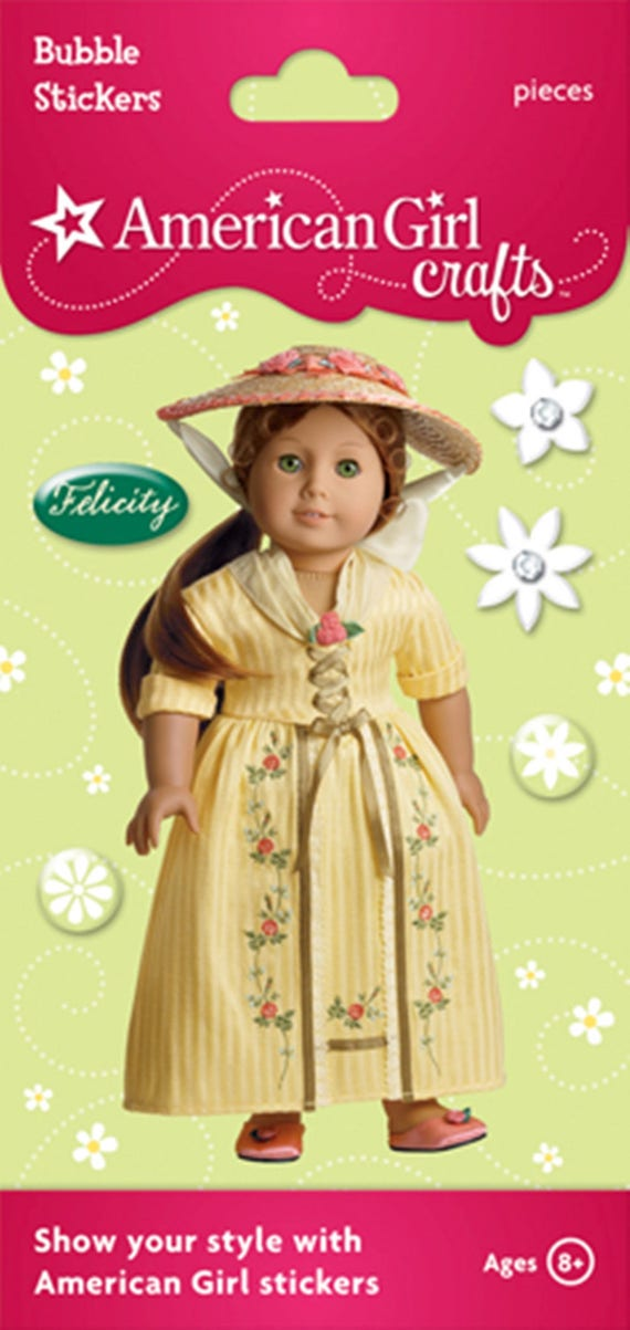 CHRISTMAS GOWN~STOMACHER! AMERICAN GIRL  FELICITY PUFFY~BUBBLE STICKER
