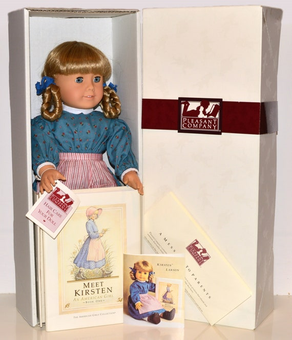 "American Girl 18/"" Doll Kirsten Meet Dress ONLY Retired PC Hungary"