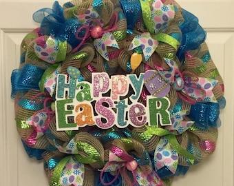 Happy Easter Wreath