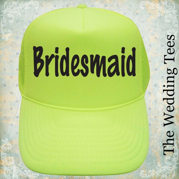 d390a4b12a223 Set of 10 Bridesmaid Caps   Team Bride   Bridal Party Caps