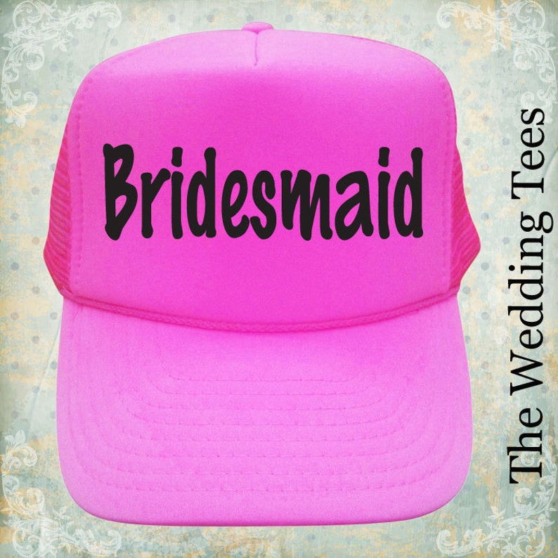 a47be1b7e3ac0 Bridesmaid Caps. Bridal Party Caps. Bride Hats. Bachelorette
