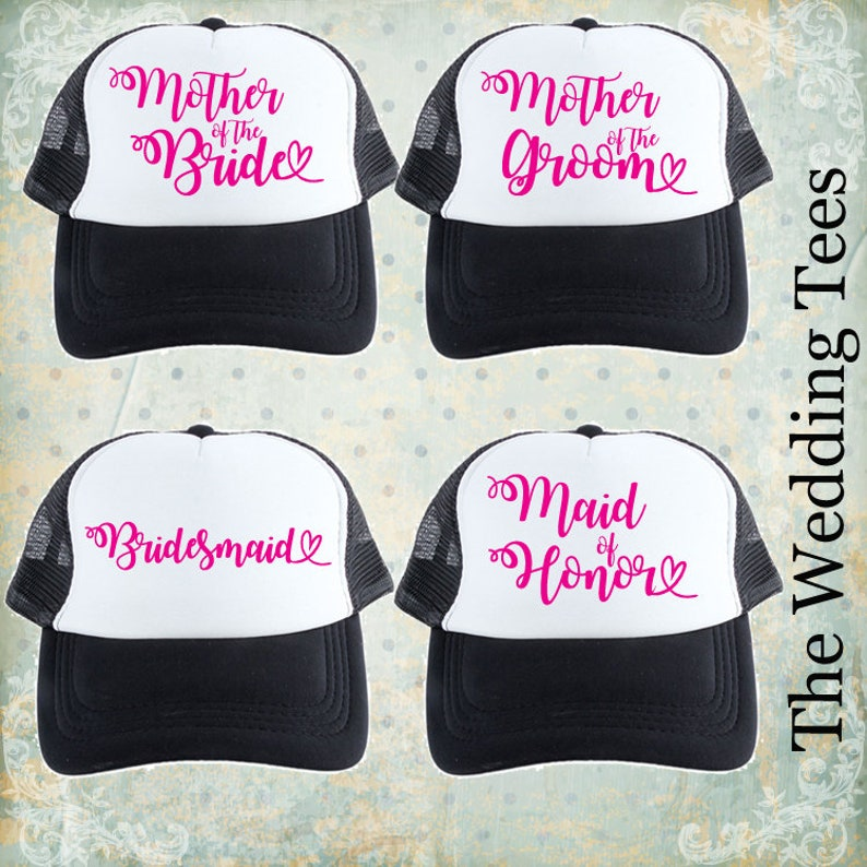 ac602c105de41 Set of 12 Bride   Bridal Party hats. Bachelorette caps.