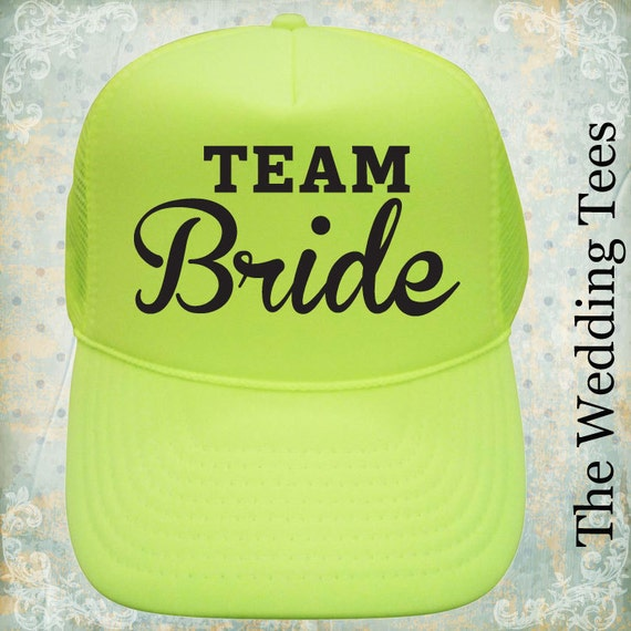 6b390d99cbc72 Set of 4 Team Bride Caps   Team Bride   Bridal Party Caps