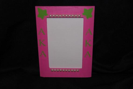 Alpha Kappa Alpha Ivy Leaf Picture Frame Etsy