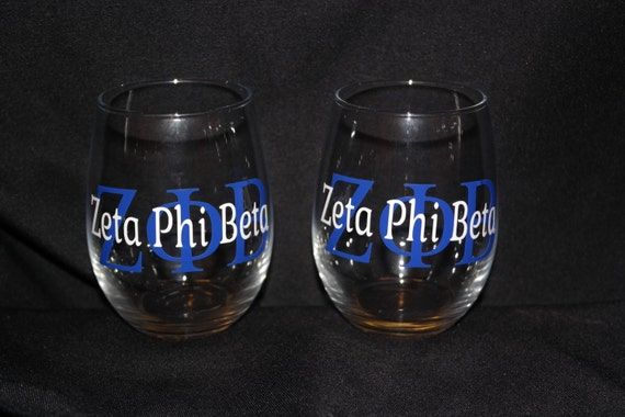 Zeta Phi Beta Inspired Short Glass Tumbler