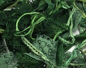 Hand Dyed Green Lace and Trims