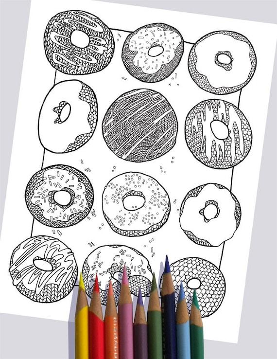 PUNTO DONUTS colorear página / Imprimir página para colorear | Etsy