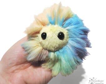 Anti Anxiety Puff Plush | Worry Pet Stress Ball | Monster Critter | Rainbow Sherbet
