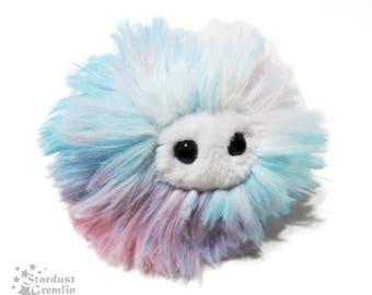 Anti Anxiety Puff Plush | Worry Pet Stress Ball Monster Critter | Cotton Candy Floss