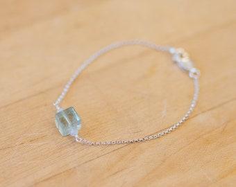 Fluorite & Blue Lace Agate Chain Bracelet
