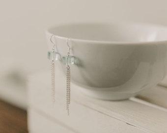 Fluorite Fringe Earrings