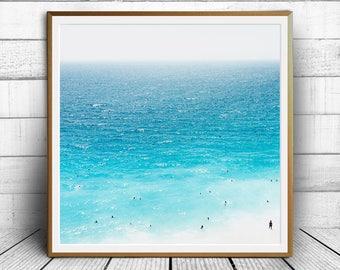 Beach photography, Beach photo print, seaside photo, ocean print, tropical sea photo, modern contemporary, ocean art, digital download