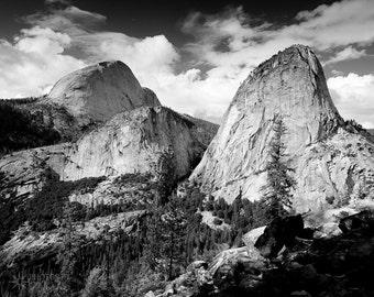 Yosemite - Nevada Fall Trail Photo, Wall Art, Home Decor, Black and White, Fine Art, Landscape, Nature