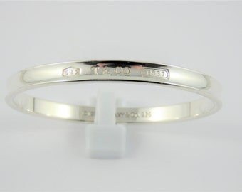 d93542c91 Tiffany & Co. Sterling Silver 1837 Bangle Bracelet
