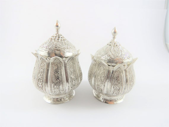 Sterling Silver Salt And Pepper Shaker Set