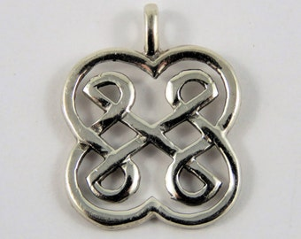 Sterling Silver Small Round Celtic Knot Pendant