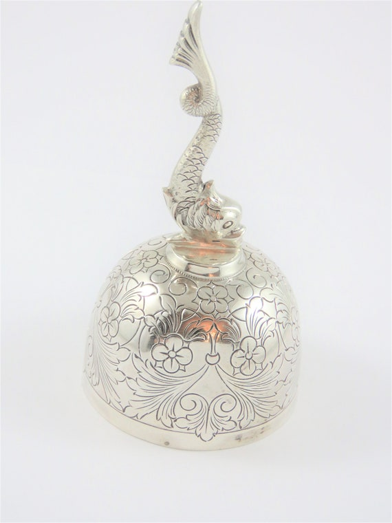Portuguese Sterling Silver Dinner Table Bell