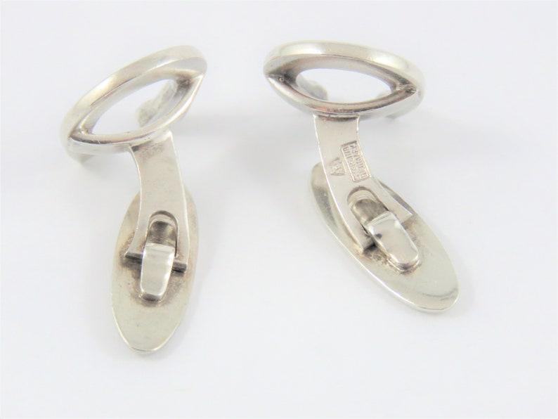 Sterling Silver Danish Horseshoe Cuff Links