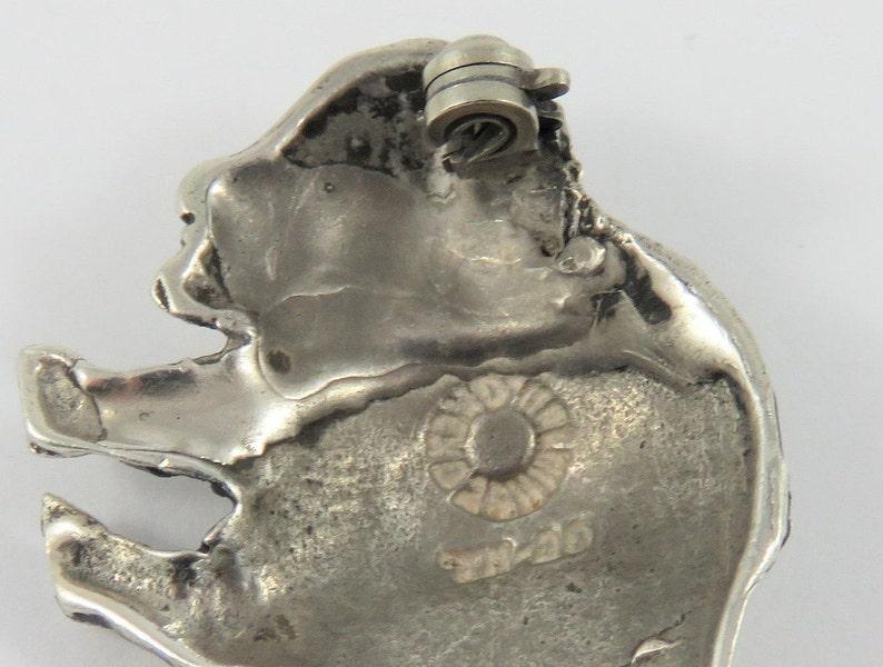 Sterling Silver Bison Brooch