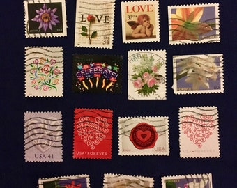 15 USA Beautiful Postage Stamps (KC019)