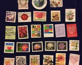 30 USA Beautiful Postage Stamps (KC018)