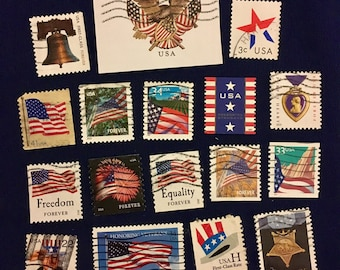 20 USA Patriotic Postage Stamps (KC025)