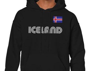 Iceland Series 1 Country Pride Republic Of Iceland Reykjavik Kopavogur Hafnarfjorour Akureyri Explore Discovering Travel Men/'s Hoodie ICE-01