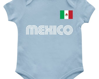 0387dc2ba Mexico Series One Soccer Jersey Print Patriotism Mexican Pride Honor  Respect Pledge Orgullo Cute Flag Nationality Infant Bodysuit KID-0213