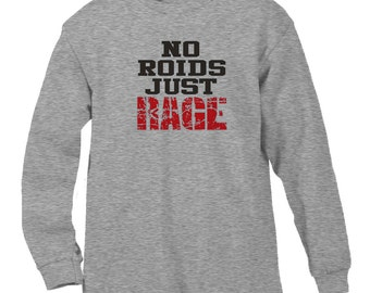 c9abd4313e9a5e No Roids Just Rage Funny Workout Bench Press Health Fitness Exercise Men s  Longsleeve Shirt SF 0073