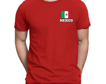 524438acc Mexico Series 2 Country Pride Chest Flag Estados Unidos Mexicanos Mexico  City Iztapalapa Guadalajara Exploring Discover Men s T-shirt MEX-02