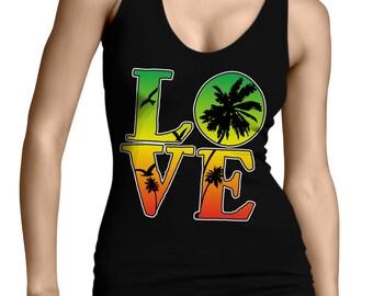 Women/'s Grenada /& Jamaica Mixed Heritage Flag Tank Top Vest
