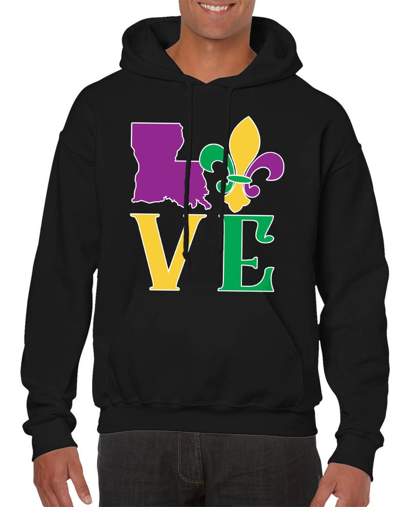 Louisiana State Love Laissez Les Bon Temps Rouler Let The Good Times Roll Party Drinking Alcohol Men/'s Hoodie SF-0458