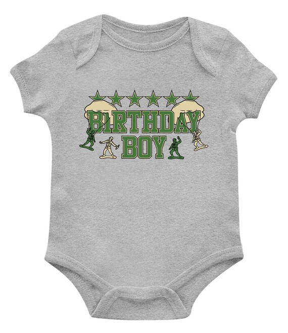 SpiritForged Apparel Birthday Boy Toy Soldiers Infant T-Shirt